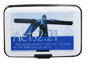 Inspire Bible Verses Card Holder Acts 2:21 (White)