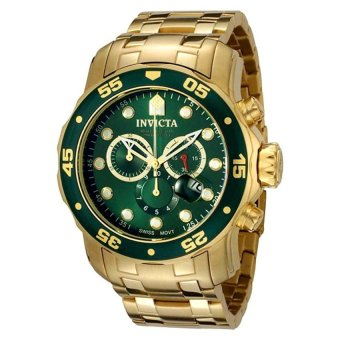 Invicta Men's 0075 Pro Diver Chronograph 18k Gold-Plated Watch - intl Price Philippines