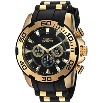 Invicta Mens Pro Diver Quartz Stainless Steel and Silicone Casual Watch, Color:Black (Model: 22340) - intl