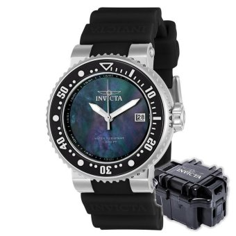 INVICTA Pro Diver Men 40mm Case Black Silicone Strap Black DialQuartz Watch 22671 w/ Impact Case B - intl Price Philippines