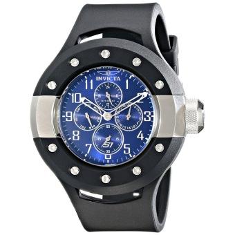 Invicta Quartz Men's Black Polyurethane Strap Watch 17390