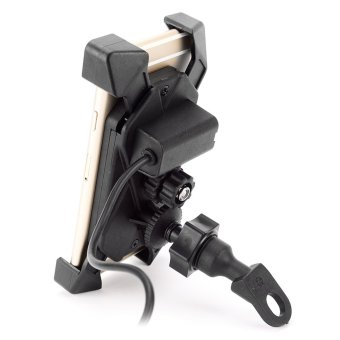 IZTOSS Motorcycle E-bike Bicycle 2-in-1 Stand Holder Mount - Black- intl
