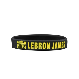 James Fans Silicone Bracelets Basketball Sport Wrist Strap Whiteone Luminou - intl Price Philippines