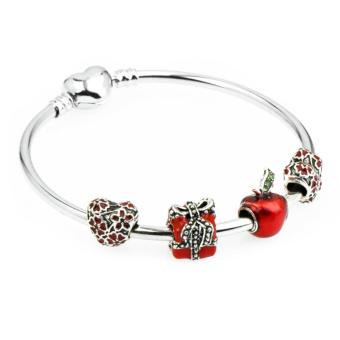 J&C Europe and the United States trendy 925 Silver Pandora charm bracelet crystal bracelet PDA-126 Price Philippines