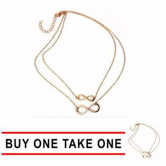 J&J Buy One Take One Infinite Layered Infinity Chain Necklace (Gold) Price Philippines