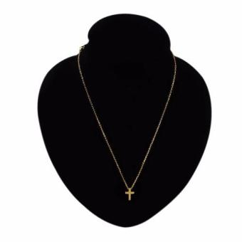 J&J Gold Plated Cross Pendant Necklace