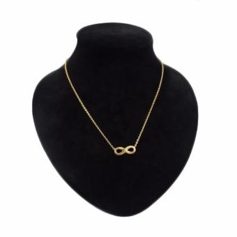 J&J Stainless Steel Infinity Necklace in Gold