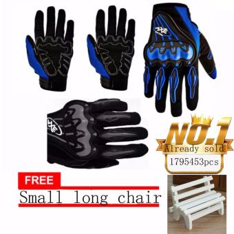 JAPAN and USA best selling free Small long chair Motorcycle GlovesTouring & Racing (Black/white)