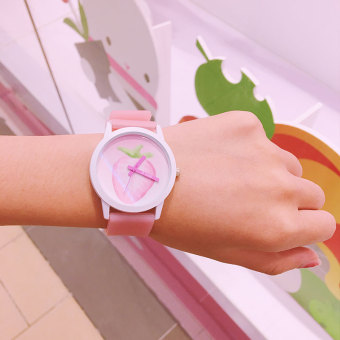 Japanese-style soft strawberry watch