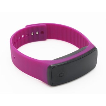 Jelly Silicone Strap Unisex Digital LED Sports Wrist Watch (Purple) - picture 2