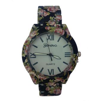 Jens Geneva Women's Black Ceramic Strap Watch