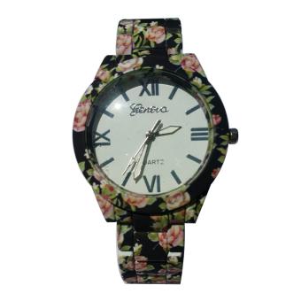 Jens Geneva Women's Black Ceramic Strap Watch - picture 2