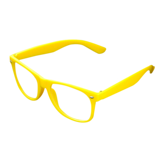 Jetting Buy Clear Lens Glasses Unisex Retro Yellow - picture 2