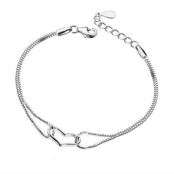 Jetting Buy Women Charm Bracelet Heart Love Silver Silver