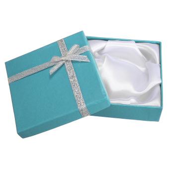 Jewellery Gift Boxes Bracelet Necklace Display Pendant Earring Storage Case Bag Sky blue