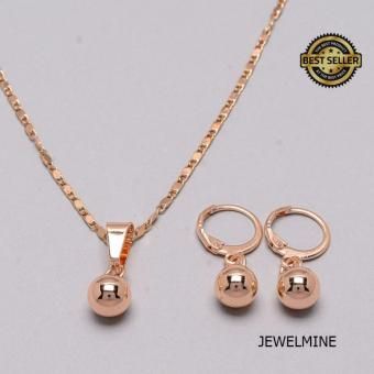 Jewelmine Beauty Circle Stainless Steel Gold Plated Jewelry Set (gold)