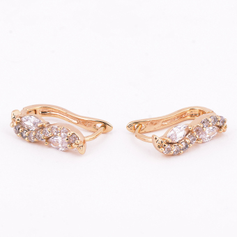 Jewelmine Infinity Cubic Zircon Earrings (gold) Price Philippines