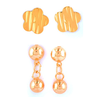 Jewelmine Isabella 10 Duo Earrings (Gold)