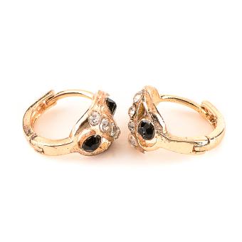 Jewelmine Isabella Onyx 18k Plated Earrings (gold) with FreeIsabella Round Plated Earrings - 2