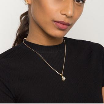 Jewelmine Pearl Jewellery Set (18k Gold Plated) - 4