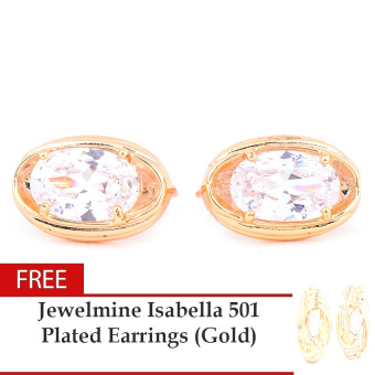 Jewelmine Phoebe Diamond Cubic Zircon Earrings with Fre JewelmineIsabella 501 Plated Earrings (Gold) Price Philippines