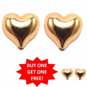 Jewelmine Pure Love 18k gold plated Earrings Buy One Take One(gold)