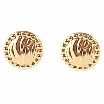 Jewelmine Round Pave 18k Gold Plated Earrings (gold)