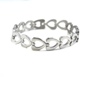 Jewelmine Stainless Steel Link Bracelet (Silver)