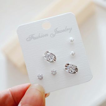 Jianyue female anti-allergy elegant earrings stud