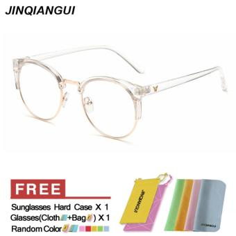 JINQIANGUI Fashion Women Glasses Frame Vintage Retro Cat Eye Glasses Clear Frame Glasses Plastic Frames Plain for Myopia Women Eyeglasses Optical Frame Glasses - intl