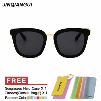 JINQIANGUI Sunglasses Women Square Plastic Frame Sun Glasses Black Color Eyewear Brand Designer UV400 - intl - 2