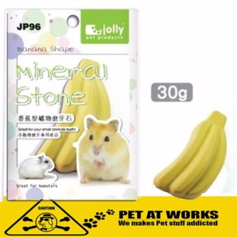 Jolly Mineral Stone Banana Shape (Small) for Dental Care HamsterGuinea Pig Rabbit and Pets Dental kit