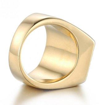 JOY 18 k gold man ring pattern ring - 4