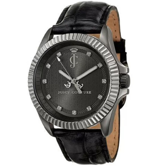 Juicy Couture Stella Croc Leather Strap Black
