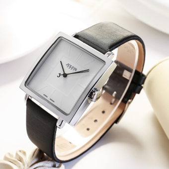 Julius Korean-style real leather belt square waterproof quartz watch women's watch