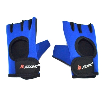 Julong MT-764 Fitness Gloves (Blue/Black)for bicycle motorcyclesport Fitness