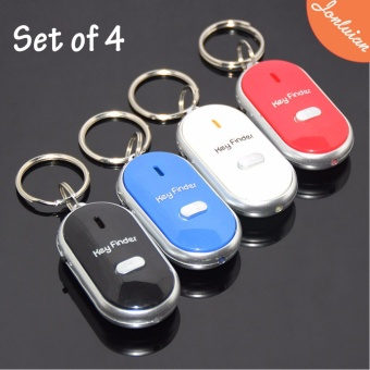 Just Whistle Door Motor Car Key Finder (Color May Vary)Set of 4