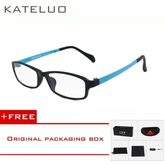 KATELUO TUNGSTEN Computer Goggles Anti Fatigue Radiation-resistant Reading Glasses Frame Eyeglasses 13021(Blue)[ free gift ]- intl