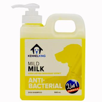 Kennel King Medicated Dog Shampoo 2 in 1 Mild Milk Anti-Bacterial -500ml