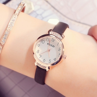 Kezzi simple fashion crystal versatile leather belt student quartz watch women's watch