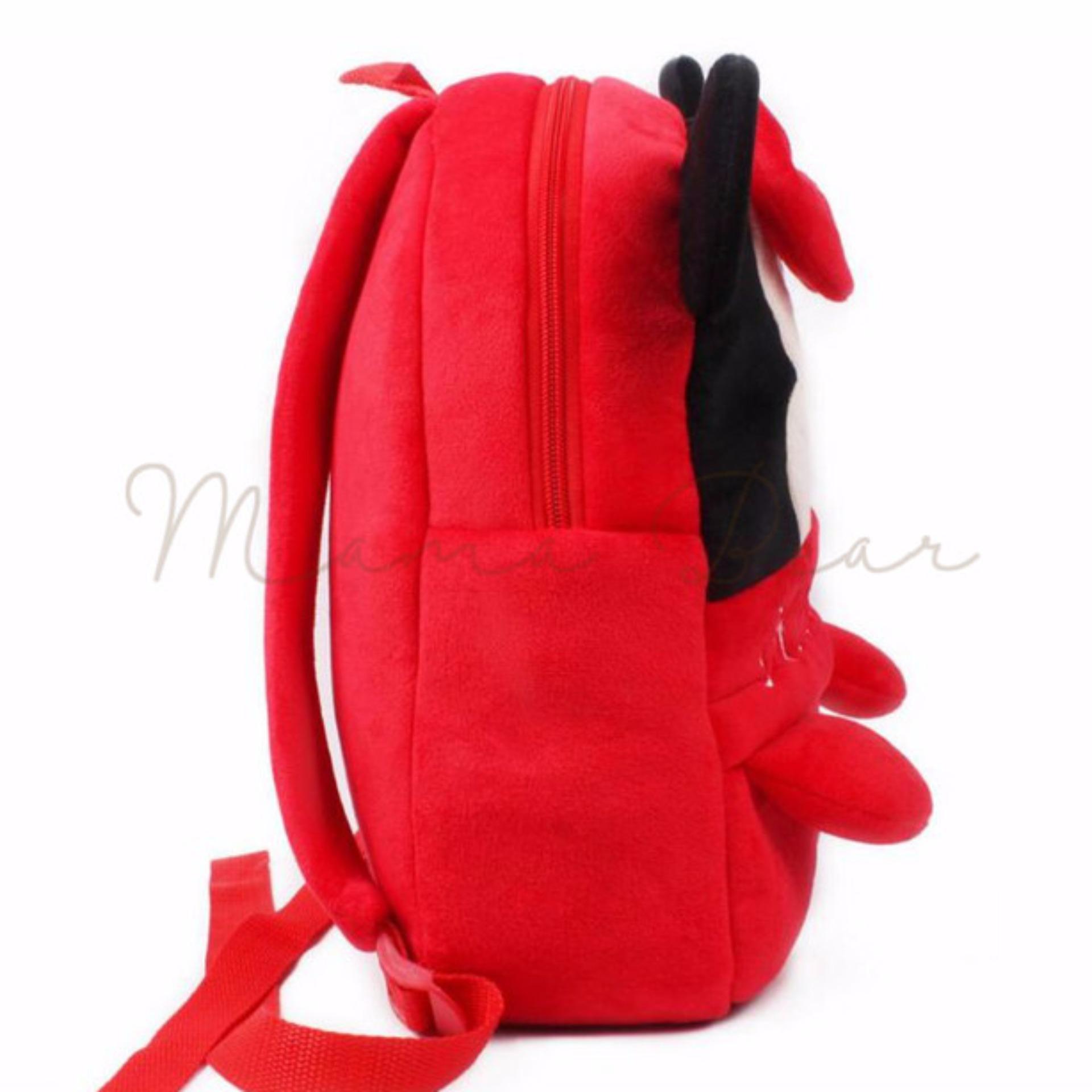 Kids Backpack Toddler Bag Children Fur Bag Soft Plush 3D Bear Stuffed Toy School Bag (Minnie Mouse Big)