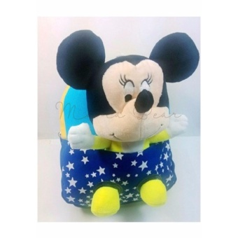 Kids Backpack with Toy Toddler Bag Children Fur Bag Soft Plush 3D Stuffed Toy School Bag (Mickey Toy)