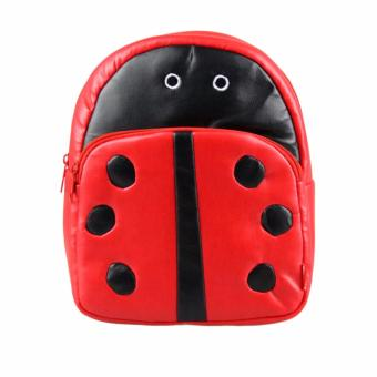 Kids Bag School Bag Cute Animal Backpack Toddler Children Leather Backpack Rucksack (LADYBUG)