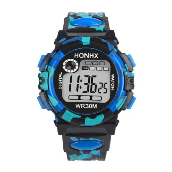 Kids Child Boy Girl Multifunction Waterproof Sports Electronic Watch Watches BU - intl