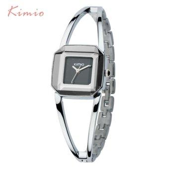 KIMIO Square Fashion Skeleton Bracelet Rose Gold Watches 2017 Luxury Brand Ladies Watch Women Female Quartz-watch Wristwatches - intl - 2
