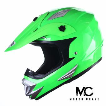King Cobra K-101 Off Road Motocross Motorcycle Helmet (Flourescent Green)