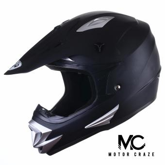 King Cobra K-101 Off Road Motocross Motorcycle Helmet (Muted Black)