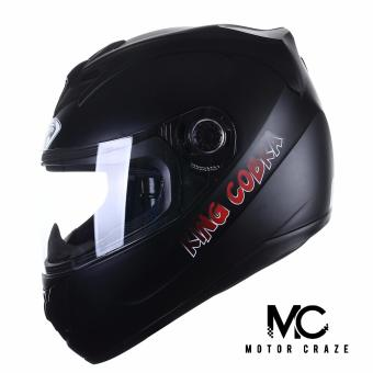 King Cobra K-691 A Full Face Motorcycle Helmet (Muted Black)