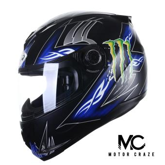 King Cobra K-691 Full Face Motorcycle Helmet ( Muted Black/Blue)