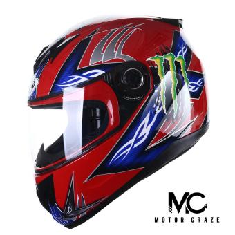 King Cobra K-691 Full Face Motorcycle Helmet (Red/Blue)